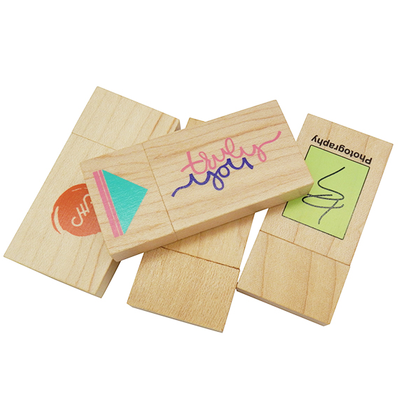 rectangle Wooden USB drives