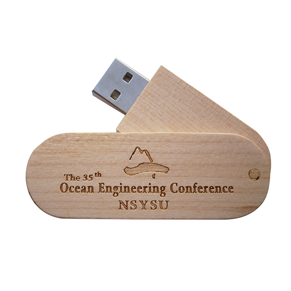 wooden swivel memory stick in maple 1
