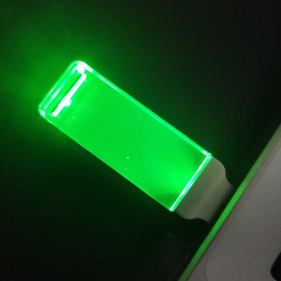 green light usb drives