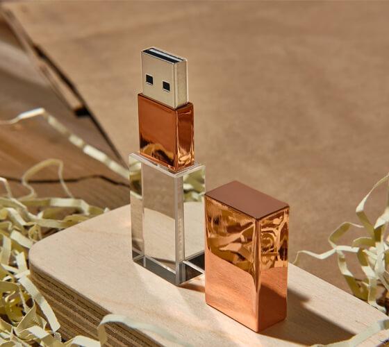 Rose golden Crystal USB drives