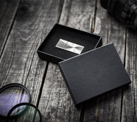 Metal USB drives with gift box